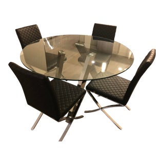 Contemporary Modani Dinning Table Set - 5 Pieces For Sale