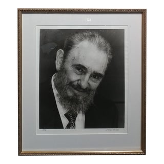 Fidel Castro -Original Silver Gelatin Photograph-By Liborio Noval- Signed