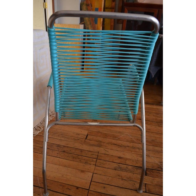 Patio Furniture by Surf Line, 2 Lounge Chairs, 1 Chaise in Stainless and Aqua For Sale - Image 9 of 13