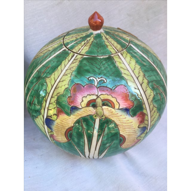 Lotus Flower Ginger Jars - A Pair - Image 4 of 8