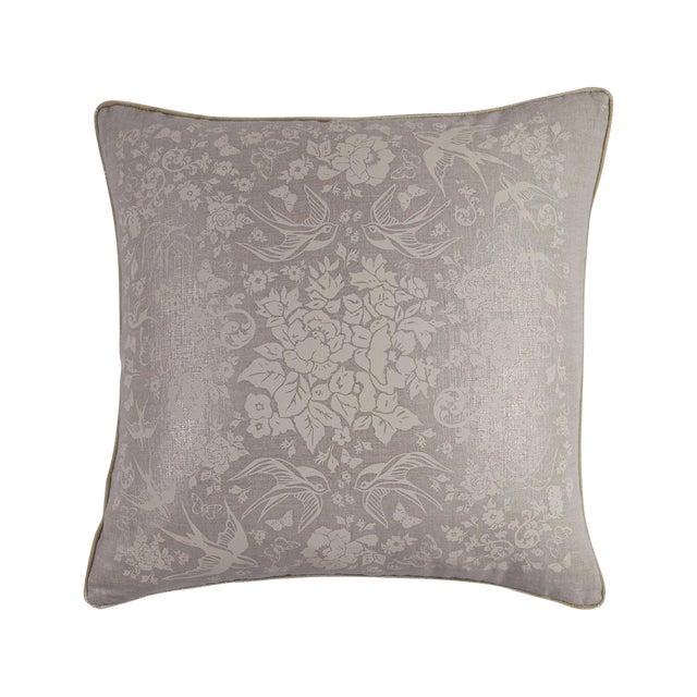 Metallic Linen Swallow Garden Pillow For Sale