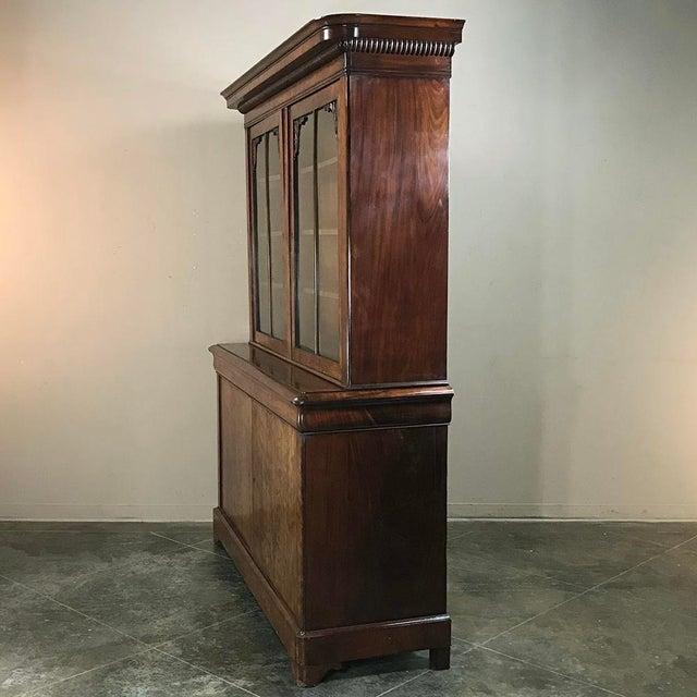 Mid-19th Century Louis Philippe Mahogany Bookcase For Sale In Dallas - Image 6 of 11