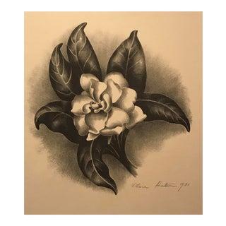 Victoria Hutson Huntley Camellia Lithograph For Sale