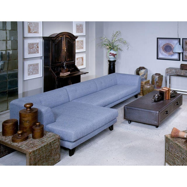 Sarreid LTD Bella Donna Gray Sectional Chaise - Image 6 of 6