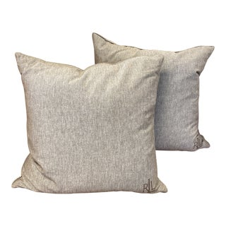 Transitional Ralph Lauren Pillows - a Pair For Sale