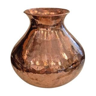 Hand-Hammered Copper Vase For Sale