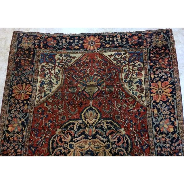 "Islamic 1880s Handmade Antique Persian Sarouk Farahan Rug - 4'2"" X 6'3"" For Sale - Image 3 of 6"