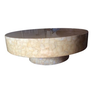 Mid Century Large Circular Coffee Table For Sale
