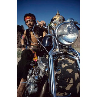 1969 Jimi Hendrix and Motorcycle Photo by Ed Thrasher (11x14 Print) For Sale
