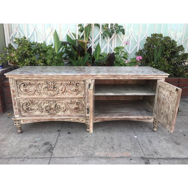 French Style Distressed Cabinet - Image 6 of 11