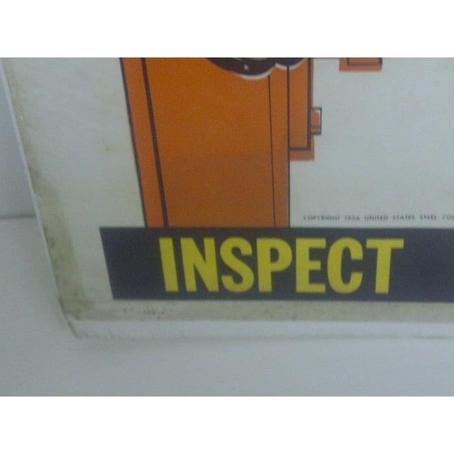1956 Vintage US Steel Safety Poster - Image 5 of 9