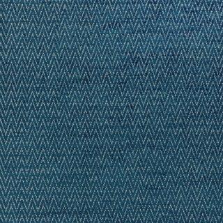 Scalamandre Chevron Chenille Fabric in Peacock Sample For Sale