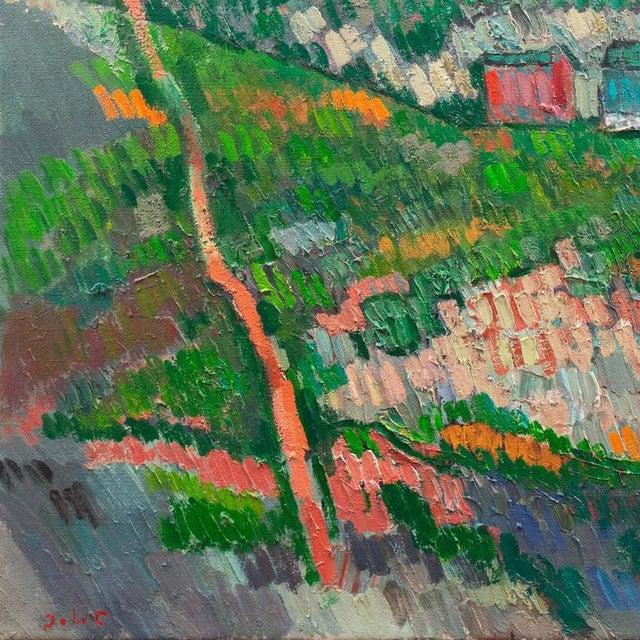 Green Johannes Carstensen Landscape With Village For Sale - Image 8 of 11