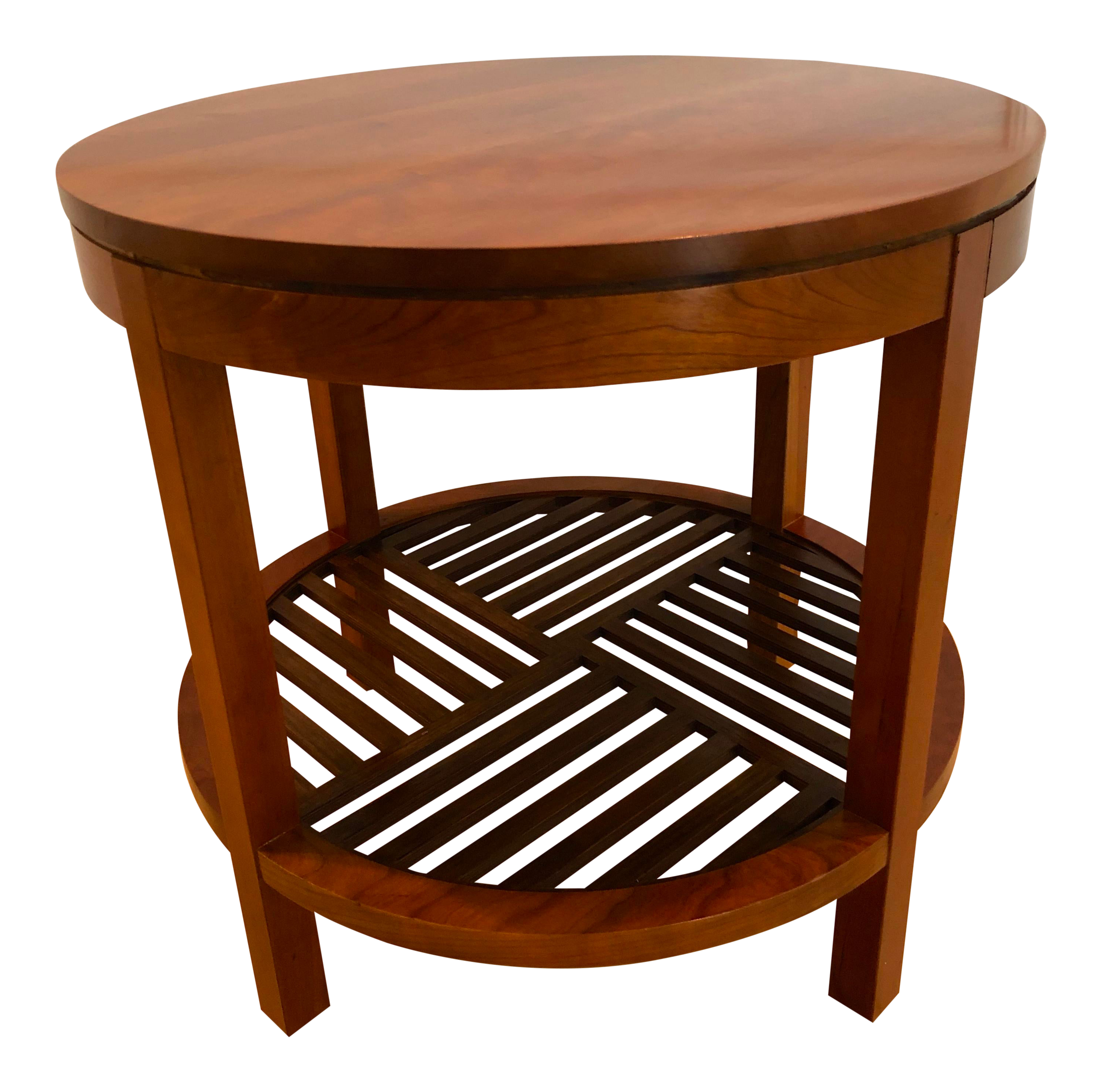 Contemporary Stickley Round Lamp Table For Sale