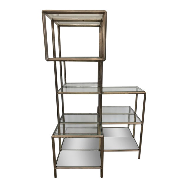 1960s Modern Chrome Etagere For Sale