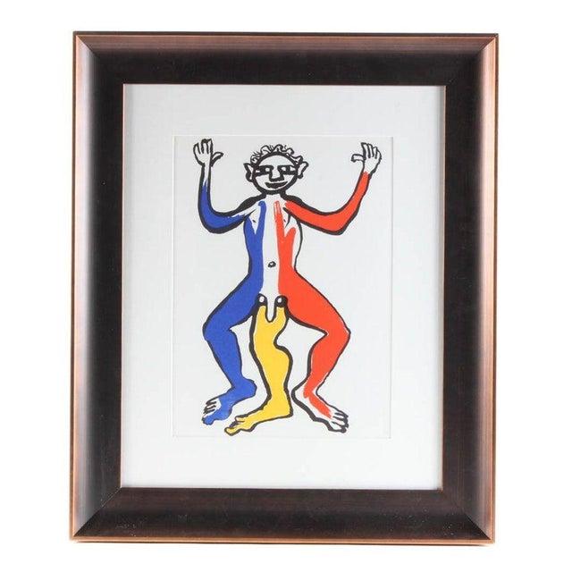 "Alexander Calder 1975 Original ""Acrobat (Blue, Yellow, Red)"" Lithograph by Alexander Calder For Sale - Image 4 of 4"