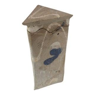 Pottery Lidded Vase