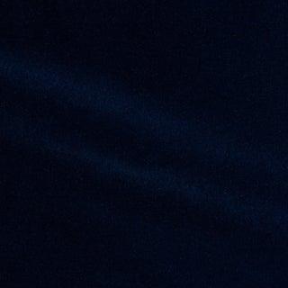Schumacher Rocky Performance Velvet Fabric in Navy For Sale
