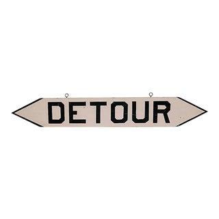 1940s Detour Sign For Sale