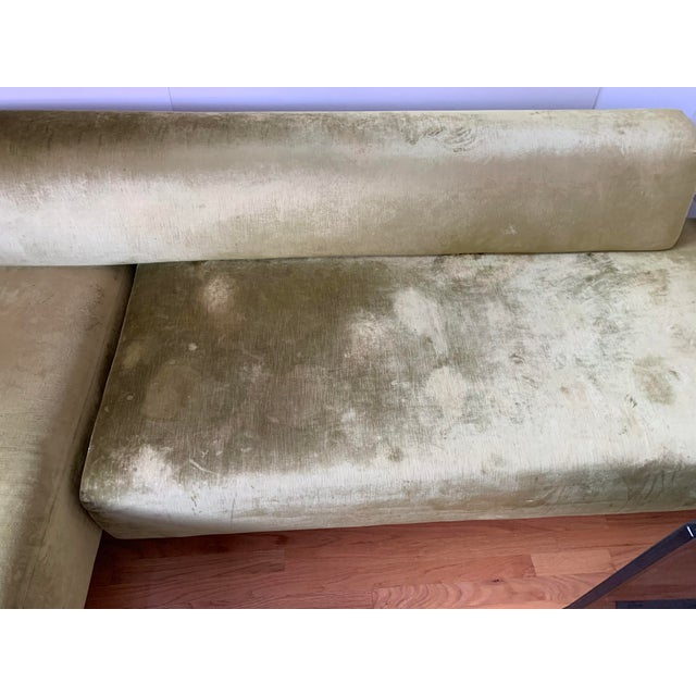 Green Moroso Lowland Sofa With Ottoman & Side Table For Sale - Image 8 of 8
