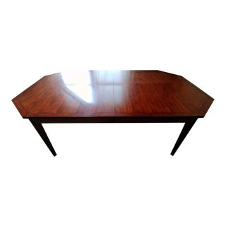 Traditional Henredon Furniture Acquisitions Paris Octave High Sheen Walnut Dining Table For Sale