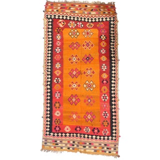 "Pasargad Ny Antique Persian Shiraz Kilim Rug - 4'7"" X 9'5"" For Sale"