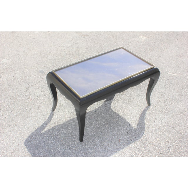 Art Deco 1940s French Art Deco Ebonized Coffee Table For Sale - Image 3 of 13