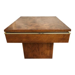 MCM Burlwood Accent Table For Sale