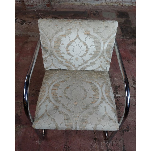 Metal Mies Van Der Rohe Vintage Chrome Arm Chairs - Set of 4 For Sale - Image 7 of 9