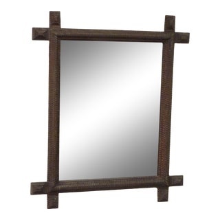 Early 20th Century Tramp Art Mirror For Sale