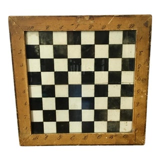 American Folk Art Mid 19th Century Game Board For Sale