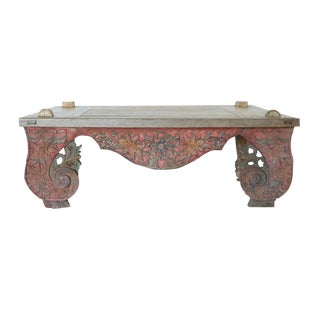Antique Carved Coffee Table For Sale