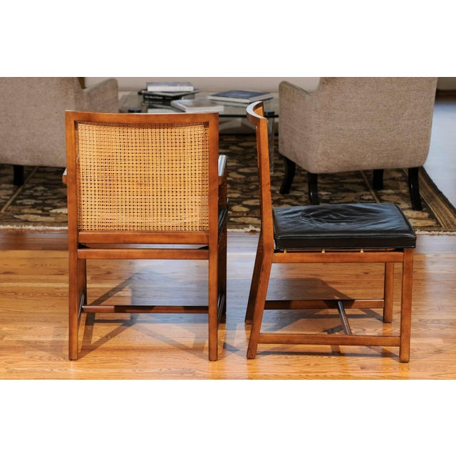 Metal Rare Surviving Set of Six Coveted Cane Dining Chairs by Michael Taylor for Baker For Sale - Image 7 of 11