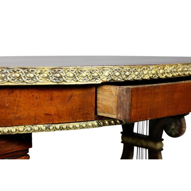 Neoclassical Russian Neoclassic Mahogany and Brass Mounted Table For Sale - Image 3 of 10