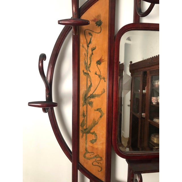 Thonet Bentwood Hall Tree With Hat and Coat Rack For Sale - Image 4 of 12