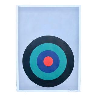 Target Practice in Black, Jade and Indigo Painting