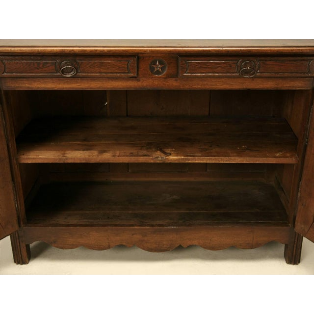 Brown Antique French Buffet With Star Motif For Sale - Image 8 of 10