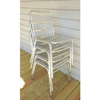 Aluminum Industrial Slat Back & Seat Stacking Chairs Preview
