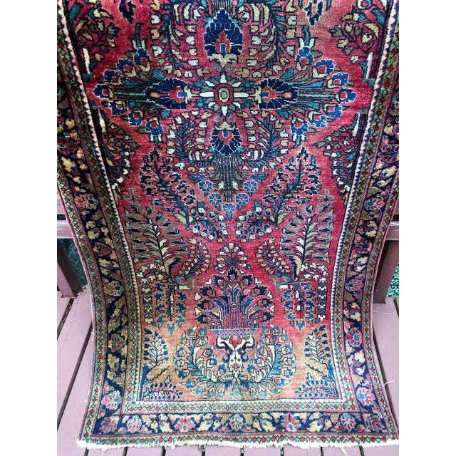 1920s Hand-Knotted Runner - 2′ × 6′ - Image 8 of 11