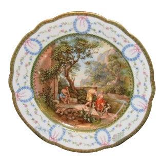 20th Century Decorative Scenic Plate, Signed Andrea Appiani For Sale