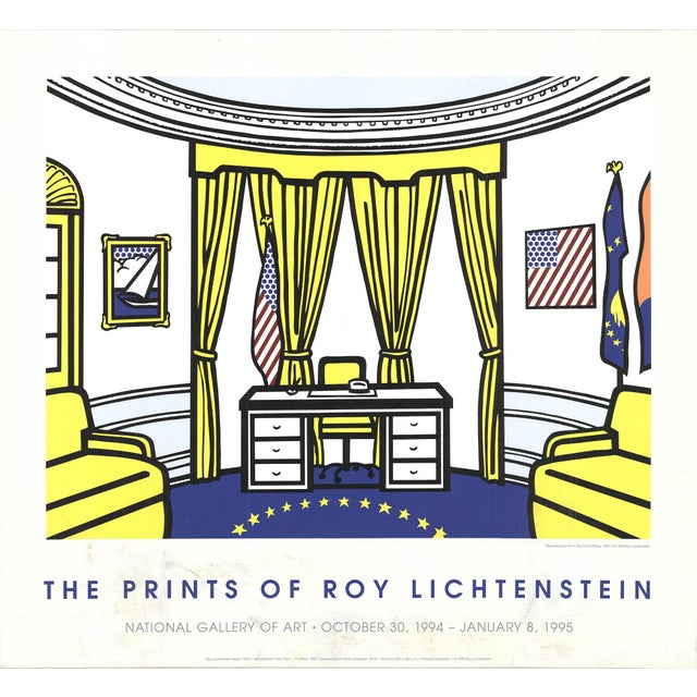Pop Art Roy Lichtenstein, the Oval Office, Serigraph, 1997 For Sale - Image 3 of 3