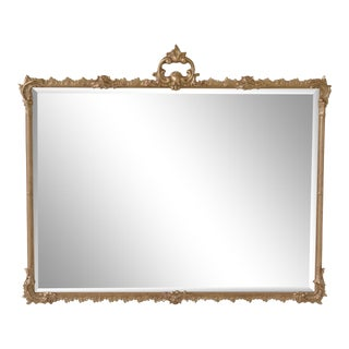 Friedman Brothers #6636 Horizontal Gold Framed Mirror For Sale