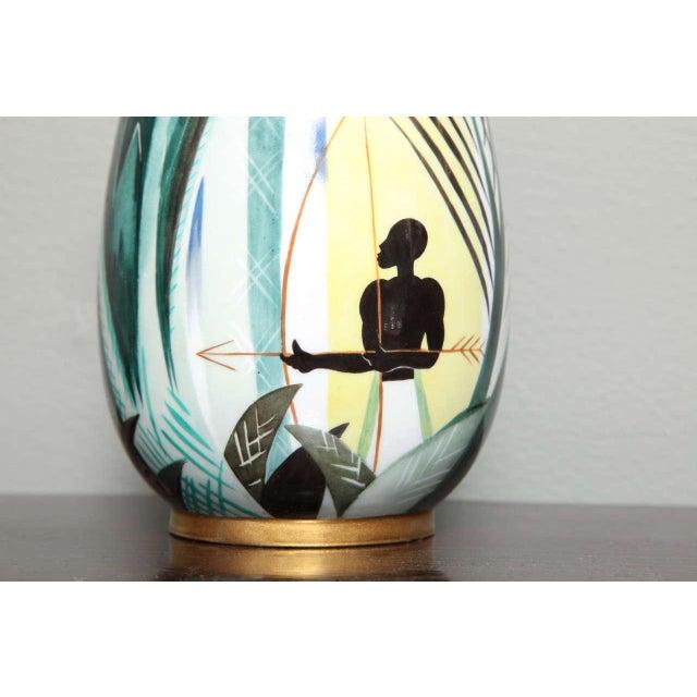 Art Deco Porcelain Vase by Robert Bonfils For Sale - Image 4 of 8