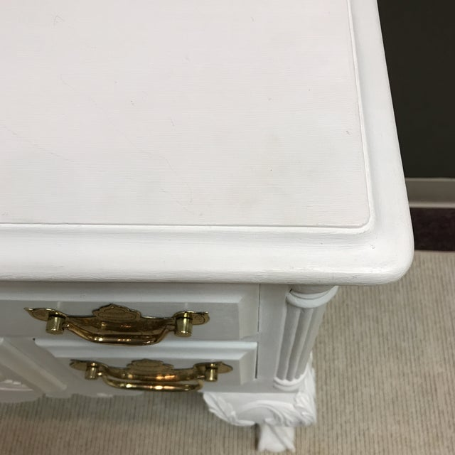 Painted White Chippendale Lowboy For Sale In Richmond - Image 6 of 7
