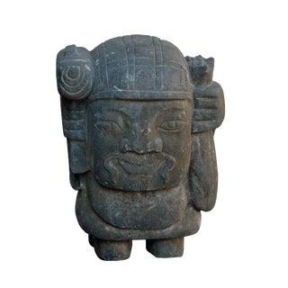 Chinese Oriental Stone Carved Garden Short Decor Figure