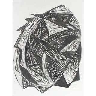 """Georgette London Owens """"Talisman"""", 1998, Expressionist Abstract in Ink and Charcoal 1998 For Sale"""