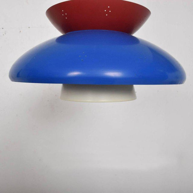 1950s American Mid-Century Modern Pendant Light Sculptural Shape For Sale - Image 5 of 10
