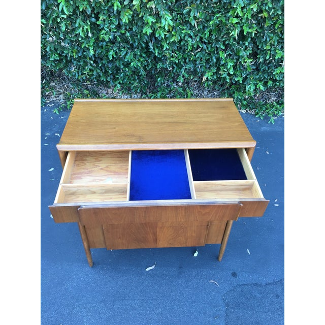 Brown Mid Century Modern High Boy Dresser Chest of Drawers Parallel Collection by Barney Flagg for Drexel For Sale - Image 8 of 12
