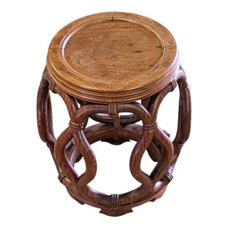 1950s Chinese Drum Table by George Zee Co For Sale