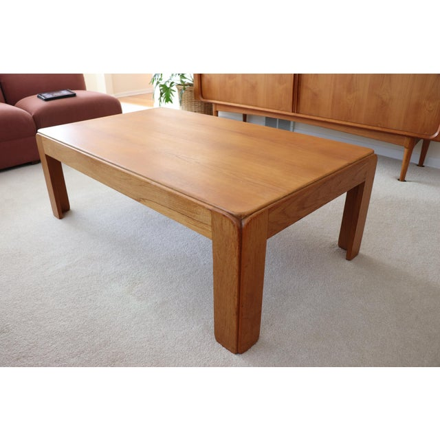 Danish Modern Niels Eilersen Solid Teak Coffee Table For Sale In Chicago - Image 6 of 6